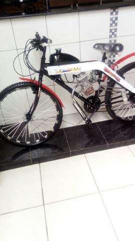 "Bicicleta elétrica motorizada 80cc ""0""km"