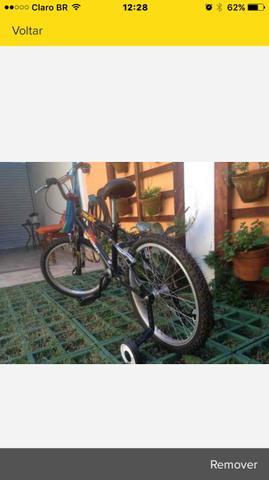 Bicicleta Bike Infantil Aro 20 Trust Preta Verden