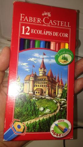 Lápis de cor Ecolapis Faber-Castell 12 cores R$16