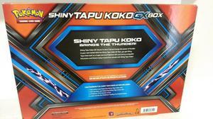 Pokemon cartas Box Tapu Shiny Koko Gx