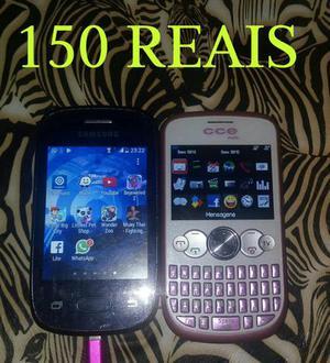 Vendo os 2 celulares por 150 reais