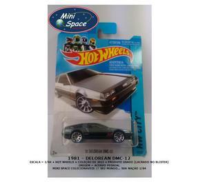 Miniatura 1:64 Delorean DMC- Grafite da Hot Wheels
