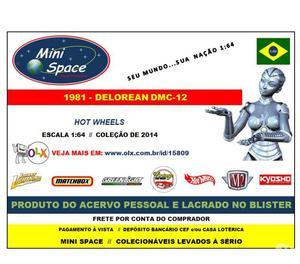 Miniatura 1:64 Delorean DMC- Vermelho Hot Wheels