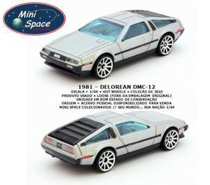 Miniatura 1:64 Delorean DMC- cinza da Hot Wheels