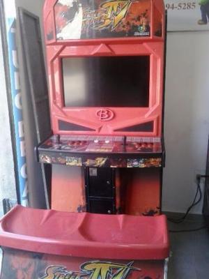 Máquina Fliperama Com  Jogos