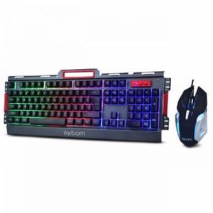 Kit Teclado E Mouse Gamer Semi-mecânico Bk-g Em Metal
