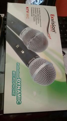 Microfone profissional Exvision M58 e M68 similar ao shure