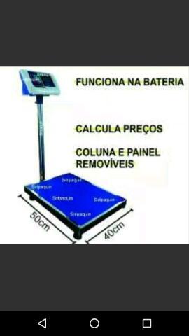 balança digital 300kg com plataforma de 40xv