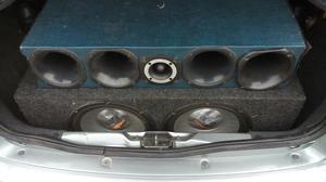 2 street bass selenium prata 550w d12 e corneteira