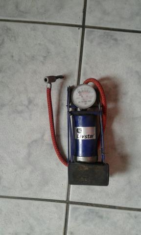 Bomba De Ar Pedal C/manômetro para Pneus Bicicletas