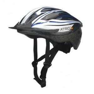 Capacete Ciclismo Atrio MTB Preto Branco azul G - BI038