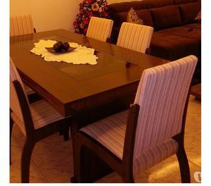 Mesa de Jantar de Maderia com 6 cadeiras (ótimo preço)