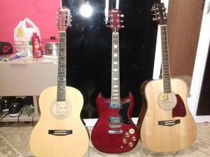 Guitarra menphis semi nova troco por violao