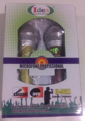 R-Kit 2 Microfone Profissional Dinamico Idea Com Cabo 3M