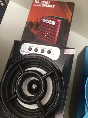 Caixa de som Bluetooth SD USB Rádio FM Preta