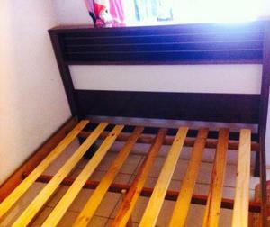 Cama casal madeira pra vender rapido
