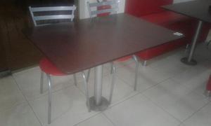 Mesa fixa para lanchonete