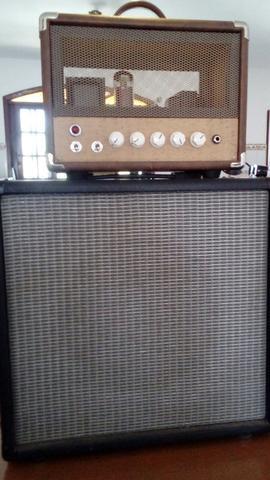 Amplificador valvulado Gato Preto Classics + caixa 1x12