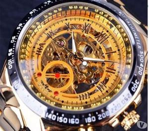 Bazar MT - Relógio Automático Skeleton Winner Luxo