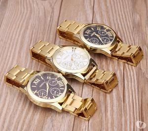 Bazar MT - Relógio Feminino Dourado Ouro Social