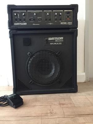 Caixa de som e cabeçote amplificador