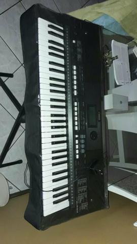 Teclado Yamaha e433 impecável com acessórios