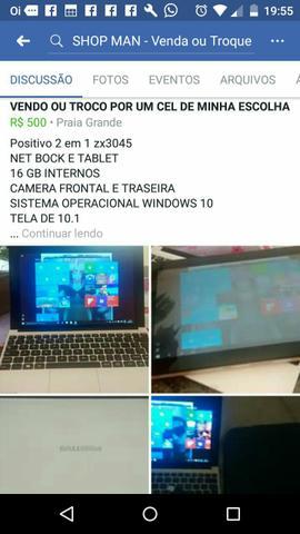 2 em 1 tablet e Netbook Positivo MODELO zx