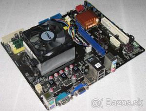 Kit Placa Mãe-processador am2- + 2 pentes de memoria 2 gb