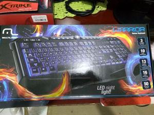 Teclado Warrior Gamer Preto LED + Mouse  DPI