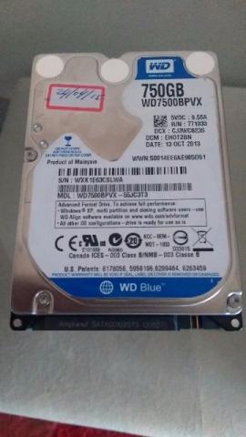 HD Notebook - 750 gigas