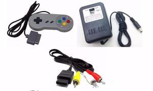 Kit de acessórios novos do Super Nintendo (Fonte + Cabo AV