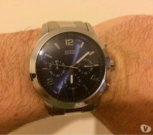 Relógio guess masculino fundo azul marinho metálico social 93976125fc