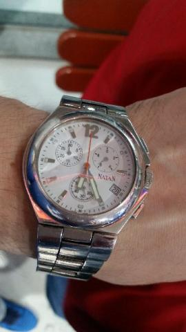 7102efde186 Relógio natan cronograph