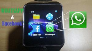 Relógio inteligente Smart DZ09 com câmera, redes sociais