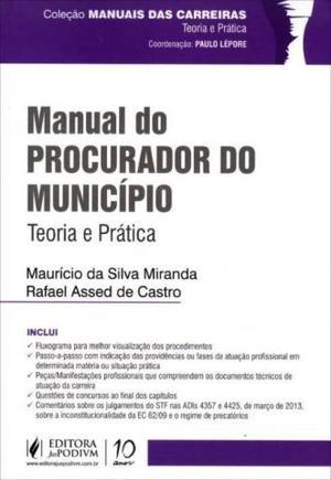 Livro Manual Do Procurador Do Município