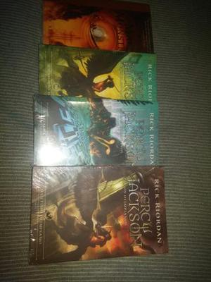 Livros Saga Percy Jackson E Os Olimpianos (vol. 2, 3, 4 E 5)