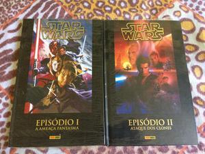 Encadernados Star Wars Ep I e II Panini Capa dura (Lacrados)