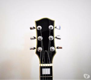 Guitarra Les Paul Strinberg Preta Usada Regulada CordasNovas