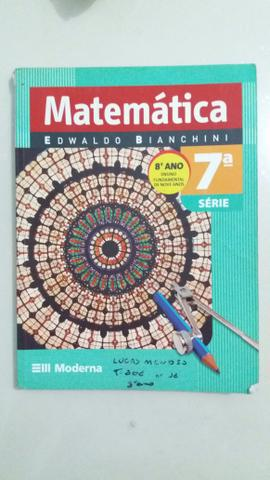 Livro Matemática Edwaldo Bianchini 8° ano, editora Moderna