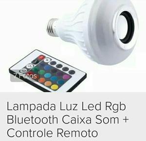Lampada de led RGB com controle remoto e reproduz musicas