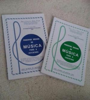 Livros Princípios Básicos da Música Volume 1 e 2