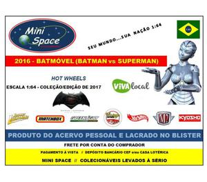 Miniatura 1:64 Batmóvel (Batman vs Superman) da Hot Wheels
