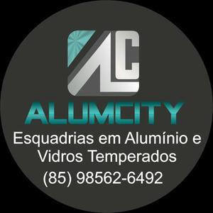 Esquadrias em alumínio e vidros temperados