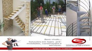 Laje Pré-moldada, Escada Pré-moldada Caracol, de Viga