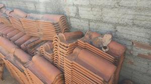 Telhas de barro usadas tipo portuguesa