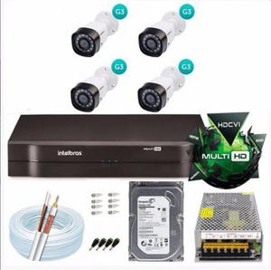Kit 4 Cameras Intelbras - DVR 4 canais - HD 500GB Pronto
