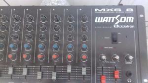 Mesa de som wattsom mxs 8, aceito tv lcd,led