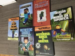 Kit com 6 livros sobre Minecraft