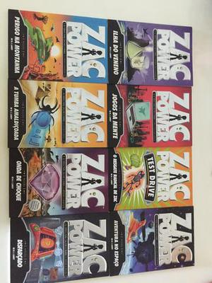 Kit de 8 livros ZAC POWER