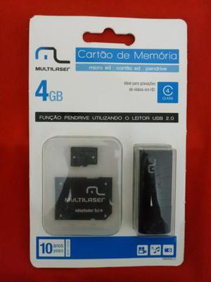 Cartão de memória Multilaser - Kit 3 Em 1 de 4gb